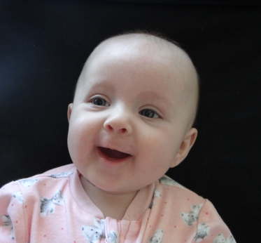 Smiling and laughing baby