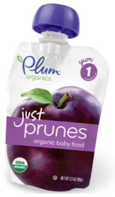 Plum Organics Prune stage 1 baby food