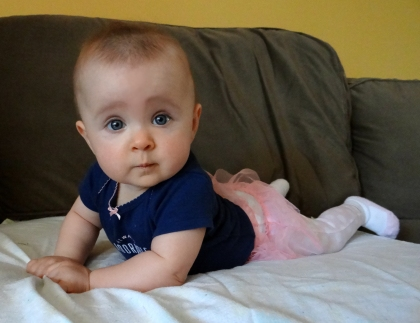 Baby doing tummy time