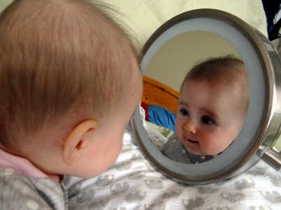 Tummy time with a mirror