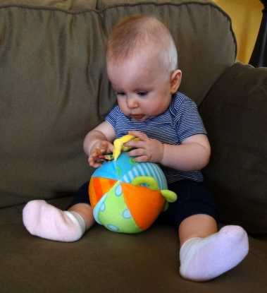 Baby with a Alex Busy Ball