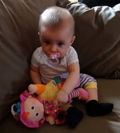 Baby with the Lamaze My Friend Emily doll