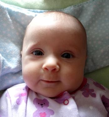 Baby making eye contact