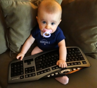 Baby with a keyboard