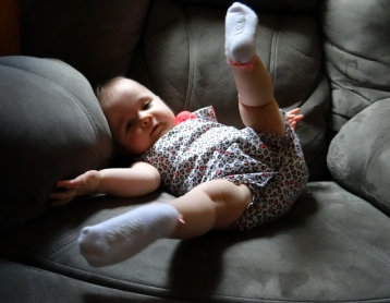 Infant falling over from independent sitting