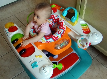 baby using the fisher-price 4-in-1 Step 'n Play Piano