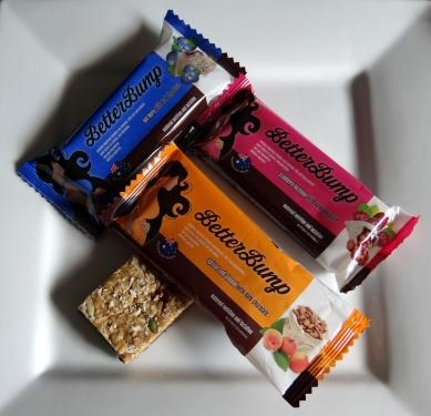 BetterBump snack bars for maternity