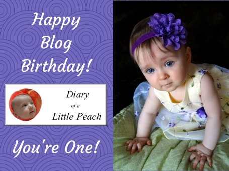 Diary of a Little Peach first birthday