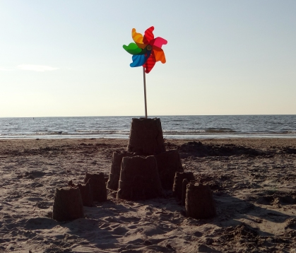 Peachy's sand castle