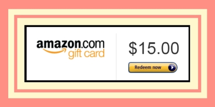 $15 dollar Amazon gift card prize banner